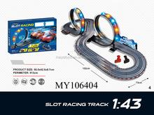 1:43 slot track b/o slot car educational toys for kids rail length 913cm