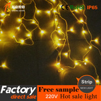 1 Holiday Decoration Led light string Christmas festival light string wedding light LED ice light string yellow