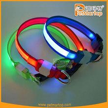 2015 led light safety night visible pet collar for dog collar logo print