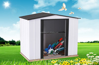 cream galvanized steel sheet metal garden shed with competetive price garden greenhouse shed