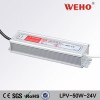 CE RoHS 50w waterproof transformer led driver power switch