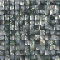 square black lip MOP shell mosaic supplied on mesh