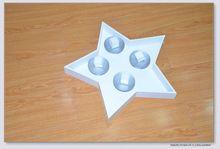Cheap white color star shape plastic decoration for christmas decoration