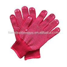 PVC Dotted Red Working Gloves Anti slip garden gloves