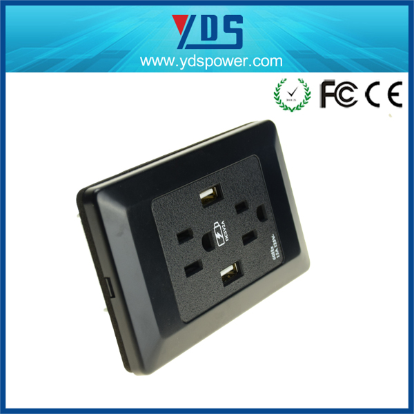 Wall Switch Usa Standard Dual Usb Port Wall Socket Charger Ac Power ...