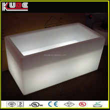 Rectangular Plastic Planter Pot With LED RGB Lighting For Outdoor