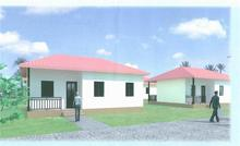 sloping roof prefab house,small kit ,house plan