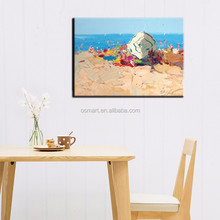 High Quality Best Price Impressionists Oil Painting Abstract Beach Landscape On Canvas For Bedroom Decoration