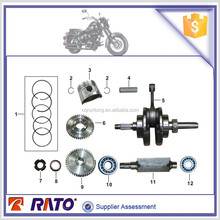 Wholesale TC200 motorcycle engine parts with motorcycle crankshaft, motorcycle piston and piston ring for sale