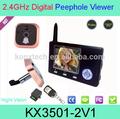 """3.5"""" digital y mirilla espectador de la puerta de mejor venta de vídeo ip de intercomunicación inalámbrica del sistema"""