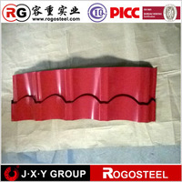 full hard prime color coated zinc 40-275 profile roofing sheets