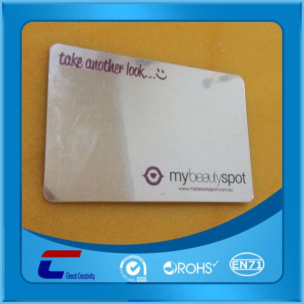 Cheap Custom Pringting Mirror Plastic Business Cards Buy