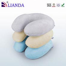 Health preserved foam pillow, bamboo pillow shredded memory foam, cylinder neck pillow Car Seat Travel Pillow