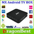 Original amlogic 8726 mx/mx2 tv caja a9 de doble núcleo android smart tv caja de paypal& wu aceptar el pago