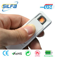 Silfa new invented with 2-32GB flash rechargeable USB cigarette jeweled lighters