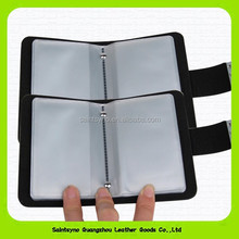 14165 PU leather Clear PVC Credit Card Holder with snap closure