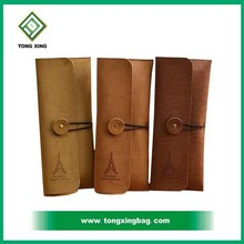 Roll Flodable leather standing Pencil Case