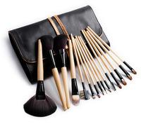 2013 Best Factory Direct 15pcs Original Wood Makeup Brushes High Quality Professional Makeup Brush Set