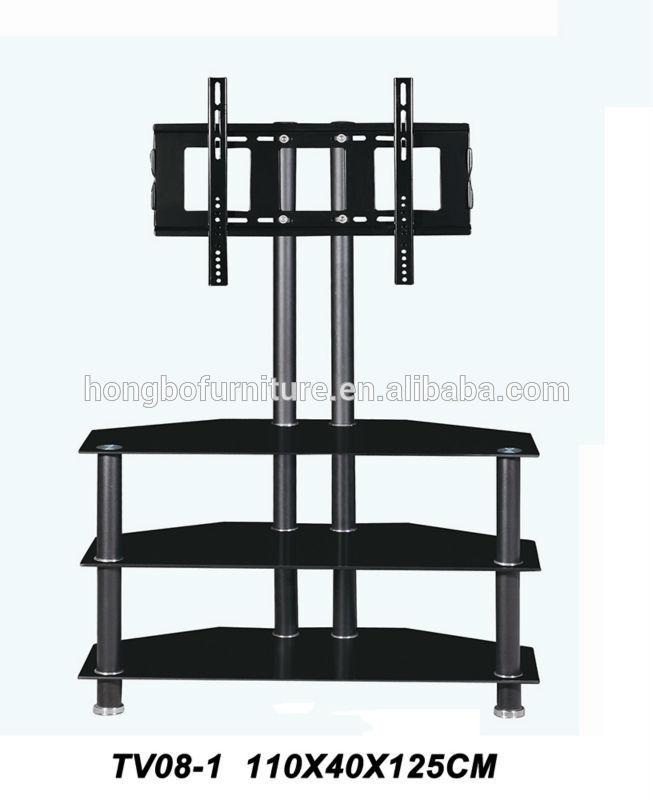 Tubo de metal soporte para tv de vidrio mesa de lcd para - Muebles de metal ...