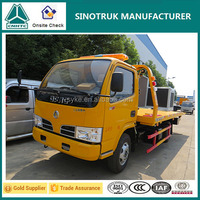 Dongfeng Chassis 4x2 Flatbed Tow Truck Wrecker Truck for Sale