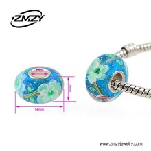 Quality Products Murano Big Hole Beads Fit European Style Murano Glass Pendant Necklace