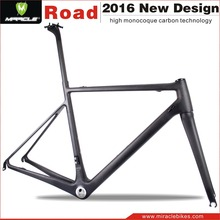 2016 Wholesale bicycle parts light frame carbon china bicycle frames with fork/seatpost/clamp for sale MC565