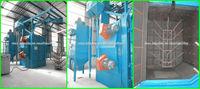 2*250kg/min abrasive flow hook type shot blasting machine for casting steel forging parts