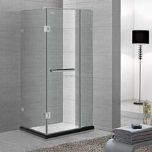 square hinge frameless shower room