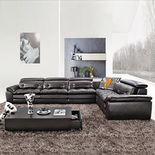 Italy Leather Sofa Section Living Room Furniture, L shape wooden living room furniture BM902
