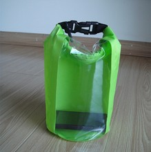 100% waterproof window transparent dry bag for phone saving