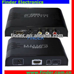 High Quality av/RCA to hdmi converter for 1080p HDTV with Scaler