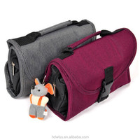 Hanging toiletry bag with mirror cosmetic bag wash bag