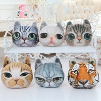 Popular Cute Cat Face Throw Pillow Cat Cushion Animal Head Shaped Pillow