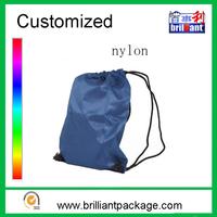 Plain wholesale cheap promotional nylon drawstring sports backpack bag