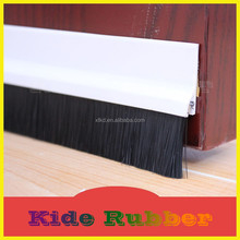 PVC strip with brush seal used in wooden door