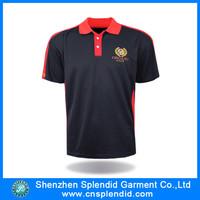 Custom 8xl embroidery designs logo 100 black polyester microfiber polo shirt