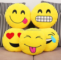 Emoji neck pillow,Wholesale Hot Custom Emoji &QQ Travel Throw Neck Emoji Pillows for gifts