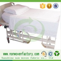 Best price bed sheet hospital waterproof non-woven fabric