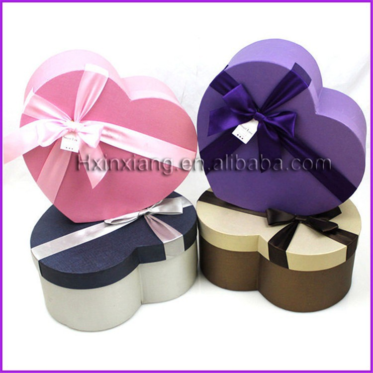 Chocolate Heart Shaped Gift Boxes : Decorative heart shaped cardboard empty gift chocolate
