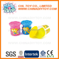 3 colors flexible play dough with plastic container