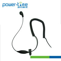 Two Way Radio In-Ear PTE-320 1 Wire Ear Plug With Rubbery Silicon Give You Extreme Comfort,Secure to your ear with ease.