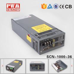 24 mounth warranty 1000w ac dc power supply 36v 1000w switch mode power supply