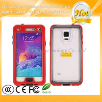 Red Shockproof Waterproof Case for Samsung Galaxy Note 4 Case With Button