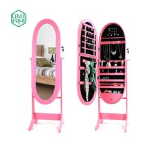 four colors oval shape jewelry cabinet large make up organizer