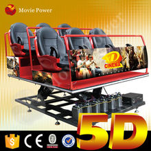 Convenient to transport and install 5d theater manufacturer
