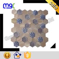 metal mosaic tile - hexagon shape