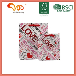 glitter paper 3D customized paper bag with your logo