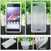 Wholesale Ultra Thin Frosted Matte Soft TPU Gel Mobile Phone Case Cover for Sony E2