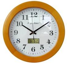Wood home decor wall clock with calendar
