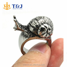 2015 Hot Selling Newest Design Popular Punk Gothic Men Alloy Speed Snail Ring